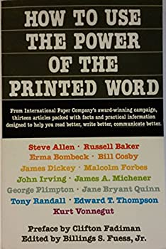 How to Use the Power of the Printed Word 0385182163 Book Cover