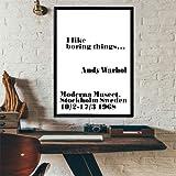 Andy Warhol Ich wie langweilig Dinge Kunstdruck, 50 x 70 cm