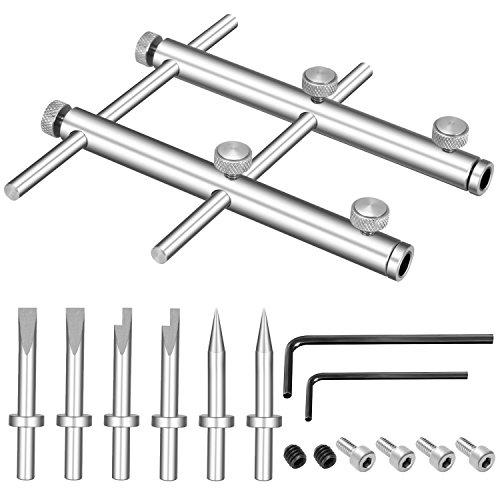 Neewer Werkzeug Set zum Öffnen und Reparieren von Kameraobjektiven für 10-100mm Objektive 3 Aufsätze 6 Schrauben 2 Sechskantschlüssel