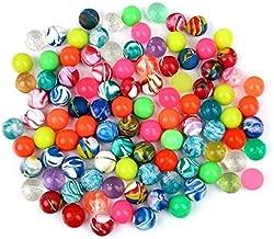 Schramm® 100 Stück Flummis Bunt gemischt 20mm Flummis Springball Hüpfball Mitgebsel Tombola Kindergeburtstag 100er Pack