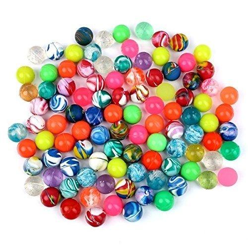 Schramm® 100 Stück Flummis Bunt gemischt 20mm Flummis Springball Hüpfball Mitgebsel Tombola Kindergeburtstag
