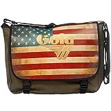 Borsa messenger GOLA bandiera AMERICA USA con tracolla,Cartella Zaino scuola ESTENSIBILE