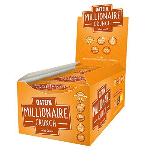 Oatein Millionaire Crunch, Vegan, Zero Sugar High Protein Slice (12 X 58g) - Salted Caramel