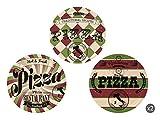 Excelsa Little Italy Set 6 Piatti Pizza, Porcellana, Multicolore...