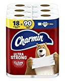 Charmin Ultra Strong Clean Touch Toilet Paper, 18 Family Mega Rolls = 90 Regular Rolls (Packaging May Vary)