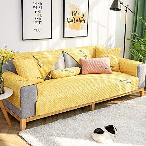 BDTOT Funda de sofá Home Elástica Estampada Sofas Salon Chaise Longue,Study Room Sofa Cushion, Non-Slip Leather Sofa Throw Sets,Wear-Resistant Funda Sofa Suaves Resistentes