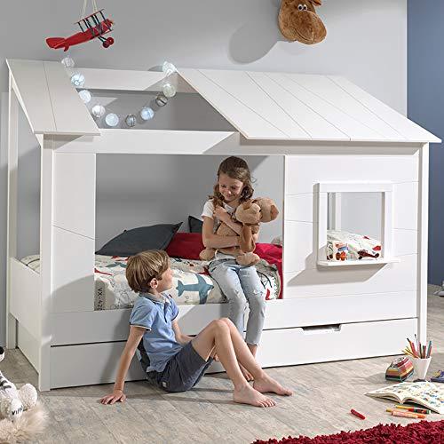 Cama con cama nido color blanco Houston