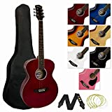 Tiger ACG2-RD Pack de Guitare acoustique - Rouge