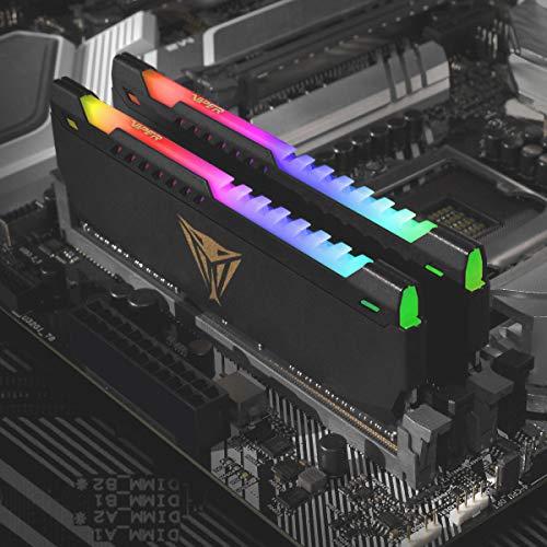 Patriot Viper Steel RGB Serie DDR4 64GB (2 x 32GB) 3200MHz Gaming Arbeitsspeicher Kit