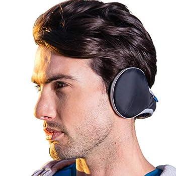 Ear muffs For Men Women Winter Ear Warmers Adjustable Waterproof Earmuffs Unisex Foldable Faux Fleece Fur Ear Cover  Black
