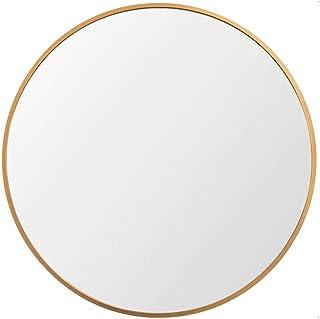 """آینه قاب فلزی دایره بزرگ Beauty4U ، آینه ای 19 """"19 اینچی برای اتاق خواب ، حمام ، اتاق نشیمن و ورودی ، آینه غرور ، طلا"""