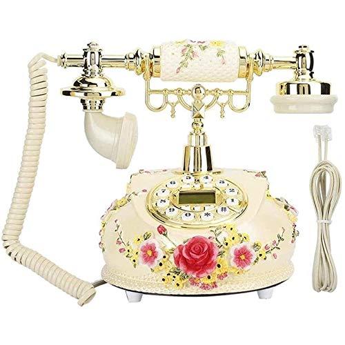 ZARTPMO Teléfono Fijo Fijo Teléfono De Estilo Antiguo Retro Vintage Manos Libres Teléfono Fijo Antiguo Decoración con Luz De Fondo para El Hogar/Hotel/Oficina