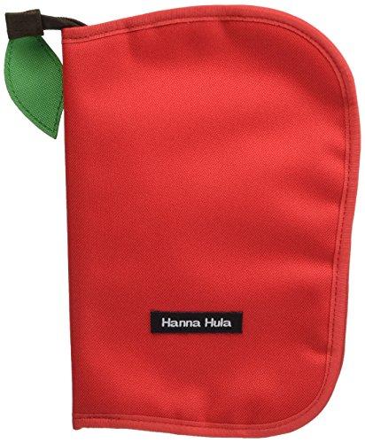 ハンナフラ(Hanna Hula) 母子手帳ケース(マルチケース) Lサイズ アップルレッド