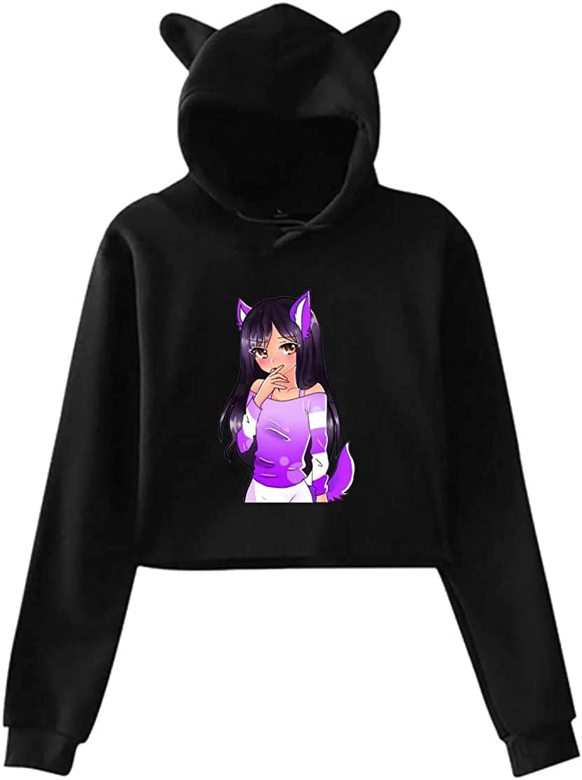 Aphmau As A Werewolf Cat Ear Hoodie Sweater Hooded Pullover Girls Women Leak Navel Sweatshirt New