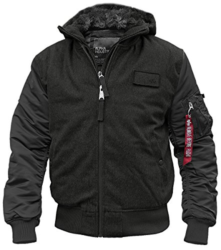 ALPHA INDUSTRIES MA1 D-Tec Wool Fliegerjacke schwarz - S
