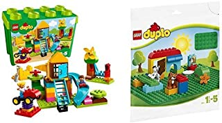 レゴ(LEGO) デュプロ みどりのコンテナスーパーデラックス おおきなこうえん 10864 & デュプロ 基礎板(緑) 2304