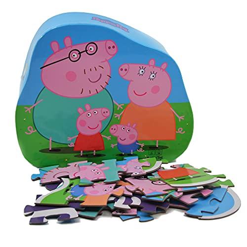 Barbo Toys Puzzle de Peppa Pig Para Niños a Partir de 2 Años Estimula la Memoria y las Habilidades Motoras Contiene 24 Piezas  Licenciado Oficialmente: Puzle (BASE TOYS)