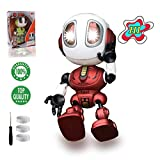 TTOUADY Robot Toys for Kids, Talking Robots Educational Toy for 3 4 5 6+ Year Old Boys Girls, LED Eyes, Interactive Voice and Touch Sensitive Flexible Robots Gift (Red)