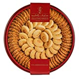 Zalatimo Sweets Since 1860, 100% All-Natural Sesame & Butter Shortbread Biscuits, Slightly Sweet, Round Metal Gift Tin, No Preservatives, No Additives, No Corn Starch, No Syrups! 1.65 LB
