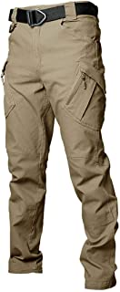 Les umes Mens Outdoor Cargo Work Trousers Ripstop Military Tactical Combat Pants Camping Hiking Trousers