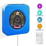 CD-Player, Wrcibo UKW-Radio HiFi Stereoanlage (MP3-fähiger CD-Player, USB-Port, AUX-IN, Fernbedienung, Stand und Wandmontage) -Blau