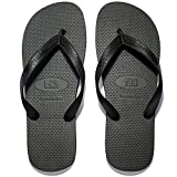 NDB Men's Classical Comfortable EVA Rubber Sandal Flip Flop (9 M US Women / 7 M US Men, Black)