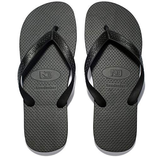 NewDenBer NDB Classic Herren Flip Flops (44 EU, Schwarz (Black))