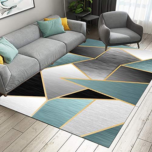 MMHJS Alfombrillas Antideslizantes Minimalistas Modernas nórdicas, alfombras rectangulares Lavables para Sala de Estar, sofá, Mesa de café, Dormitorio, Hotel, Fiesta, Alfombra para Fiestas