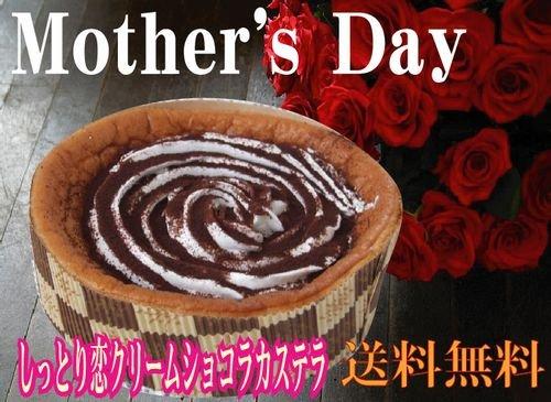 母の日♪しっとりカステラショコラ生クリーム【送込】 新冠恋物語
