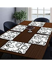 LOOMANTHA miles to go.... PVC Printed Water and Heat-Proof Table Placemat (Multicolour) - Pack of 6