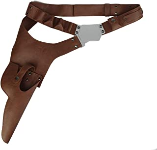 Han Solo belt, PU Leather Belt With Gun Holster Costume Props Accessories