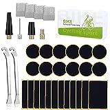 Berrywho Neumático De La Bicicleta Kit De Reparación De Neumáticos Sin Cola Punción Bicicletas Patch Set 35pcs Con Metal Escofinas