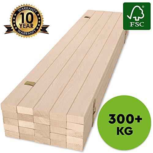 Hansales Rollrost 180x200cm (2 St. x 90x200cm) - 300 kg 25 Leisten - Hochwertiger Extra starker...