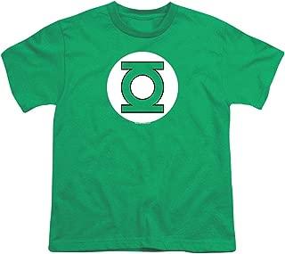 Youth Green Lantern Logo T Shirt for Boys & Stickers