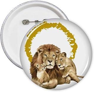 Lot de 5 badges félin Lions féeriques