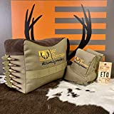 East TN. Outfitters Tactical Shooting Bags for Rifles Set Bench Rest Gun Rifle Hand Gun Sighting Support Bag Front and Rear Unfilled Tennessee… (Combat TAN)
