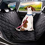 Dog Car Seat Protector Cover, 4 Layers Quilted Waterproof Washable & Nonslip Backing, Pet Car Hammock Back Seat Cover With a Storage Bag