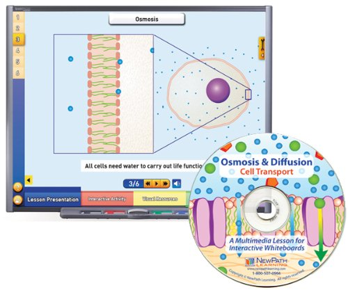 NewPath Learning Osmosis and Diffusion Cell Transport Multimedia Lesson, Single User License, Grade 6-10