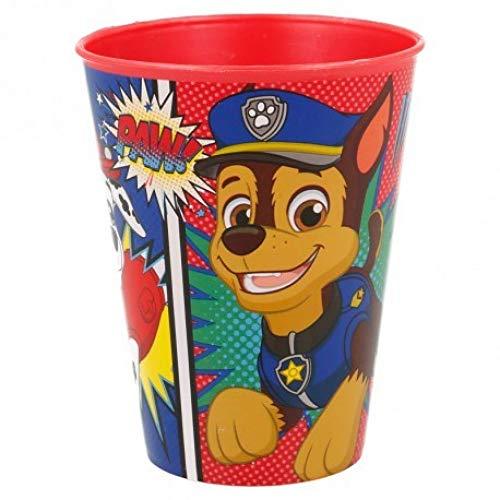Familienkalender Juego de vasos compatibles con la Patrulla Canina para niños, 230 ml, aptos para microondas con Chase, Rocky y Marschall (1 unidad)