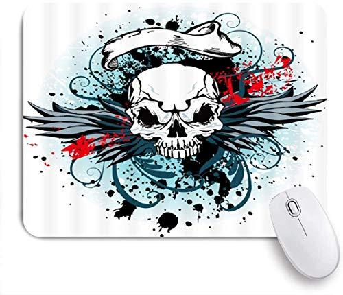 Alfombrilla de ratón antideshilachado con alas del diablo, alfombrilla suave para juegos, alfombrilla antideslizante para ratones, 30 x 25 cm, alfombrilla de goma