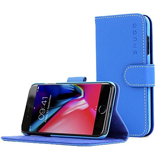 Snugg, Cover a Portafoglio per Apple iPhone 7Plus, Colore Blu Elettrico