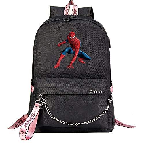 Spider-Man-Rucksack, Jugendschultasche College-Student Freizeitrucksack Reise Wanderrucksack Reittasche Unisex schwarz-7
