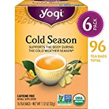 Yogi Tea - Cold Season - Supports the Body During the Cold Weather Season - 6 Pack, 96 Tea Bags...