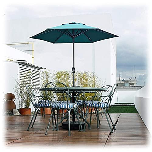 WYZQ Sombrilla de jardín de 2 M con manivela, sombrilla para toldo al Aire Libre, Patio, Playa, Mesa de Mercado, protección Solar, Equipaje