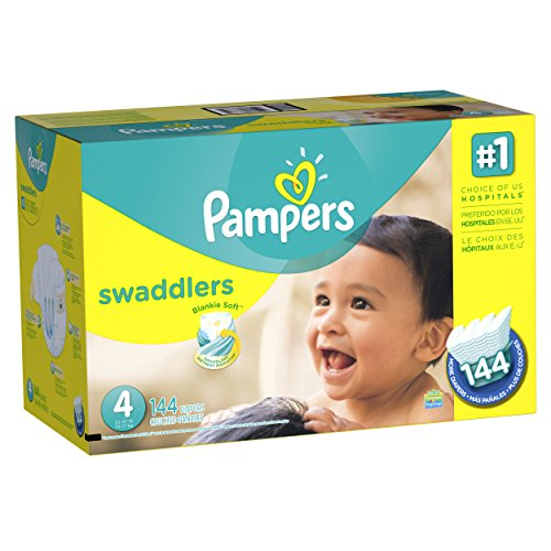 Pampers Swaddlers Diapers Size 4 144 Count (old version) (Packaging May Vary)