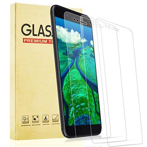 Lixuve Vetro Temperato per Xiaomi Mi A1, [3 Pezzi] [Durezza 9H] [Senza Bolle] [Anti Graffio] Pellicola Protettiva per Xiaomi Mi A1