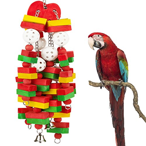 MEWTOGO Large Bird Parrot Toys for Cockatoos African Grey Macaws and Amazon Parrots