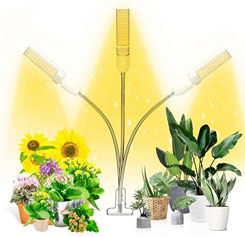 Ousyaah Plant Light, 132 LED Lámpara de Crecimiento de Espectro Completo Similar al Sol, Lámpara de Plantas de Interior, 5 Niveles Regulable con Temporizador 3/9/12 H para Jardinería Bonsái