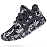 Troadlop Womens Running Shoes Non Slip Walking Air Knitted Lightweight Casual Mesh Breathable Tennins Athletic Gym Sports Fashion Sneakers Camouflage Grey Size 11.5 US