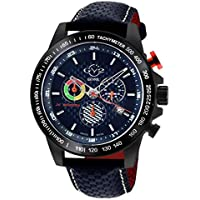 Gv2 By Gevril Scuderia Chronograph Tachymeter Blue Dial Men's Watch (9924)
